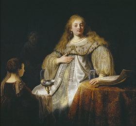 Rembrandt van Rijn: Judith am Bankett des Holofernes
