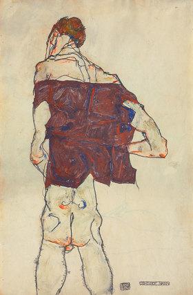 Egon Schiele: Stehender Mann