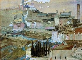 Max Klinger: Siena von San Domenico aus