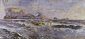 Max Klinger: Der Morgen (Christus und Aphrodite).1896. Entwurf für ein nicht ausgeführtes Wandgemälde