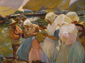 Joaquin Sorolla: Fischerfrauen am Strand