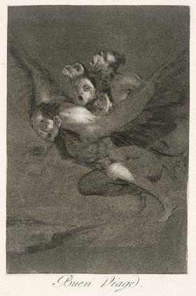 Francisco José de Goya: Los Caprichos, Blatt 64, Buen viage