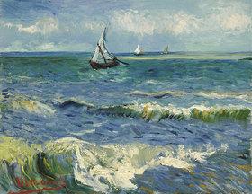 Vincent van Gogh: Seelandschaft in der Nähe von Les Saintes-Maries-de-la-Mer. Arels, Juni