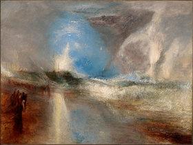 Joseph Mallord William Turner: Raketen und Blaue Lichter warnen Dampfschiffe vor Untiefen