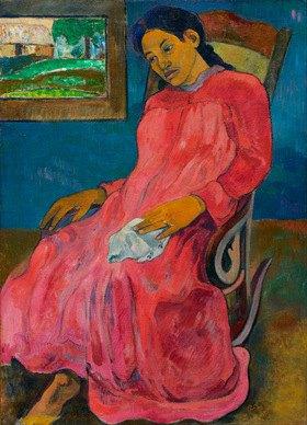 Paul Gauguin: Faaturuma. / Melancholikerin
