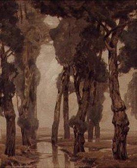 Ludwig Dill: Pappeln in den Amperauen des Dachauer Mooses