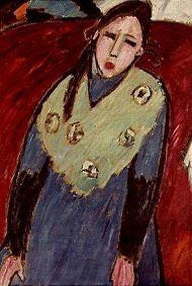 Alexej von Jawlensky: Mädchen in blau-grünem Kleid