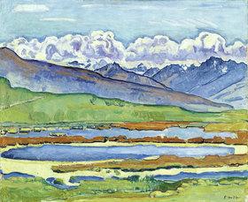 Ferdinand Hodler: Landschaft bei Montana