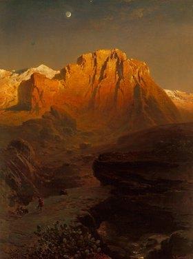 Fritz Bamberger: Abendglühen in der Sierra Nevada