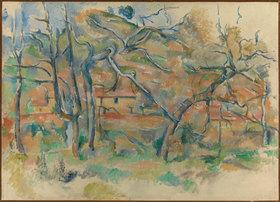 Paul Cézanne: Bäume und Häuser, Provence