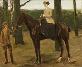 Max Liebermann: Des Künstlers Tochter Käthe zu Pferde