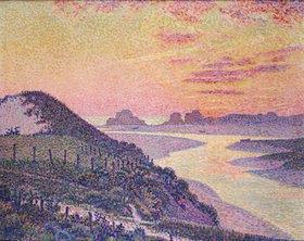 Theo van Rysselberghe: Sonnenuntergang bei Ambleteuse im Pas de Calais