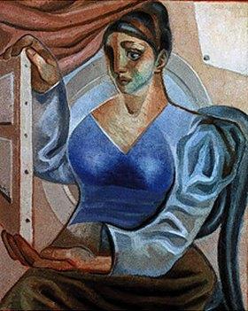 Juan Gris: Frau beim Betrachten eines Gemäldes