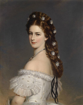 Franz Xaver Winterhalter: Kaiserin Elisabeth mit Diamantsternen im Haar