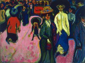 Ernst Ludwig Kirchner: Straße in Dresden