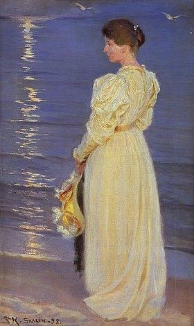 Peter Severin Kroyer: Marie, die Frau des Künstlers