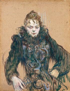 Henri de Toulouse-Lautrec: Die Frau mit der schwarzen Boa (Femme au boa noir)