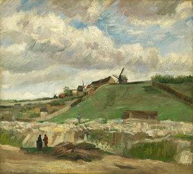 Vincent van Gogh: Hügel von Montmartre mit Steinbruch. Paris, Juni - Juli