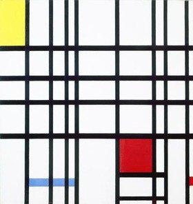 Piet Mondrian: Komposition mit rot, blau und gelb