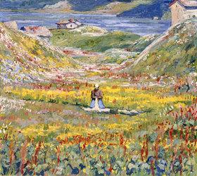 Giovanni Giacometti: Blühende Wiesen bei Maloja
