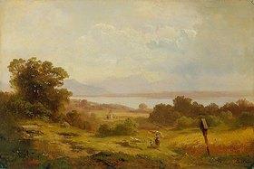 Adolf Heinrich Lier: Blick über den Starnberger See