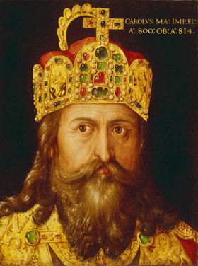 Albrecht Dürer: Idealbildnis Kaiser Karls des Großen im Krönungsornat mit der Reichskrone. Nürnberg