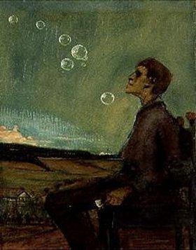 Max Beckmann: Selbstbildnis mit Seifenblasen