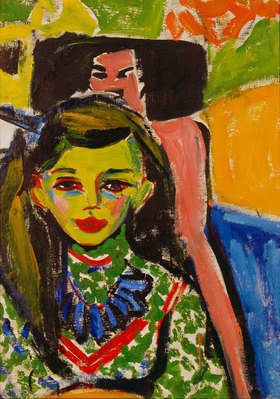 Ernst Ludwig Kirchner: Fränzi vor geschnitztem Stuhl