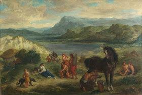 Eugene Delacroix: Ovid bei den Skythen