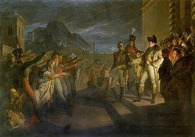 Pietro Benvenuti: Sächsische Bürger huldigen Napoleon nach der Schlacht von Jena. Datiert