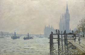 Claude Monet: Die Themse bei Westminster