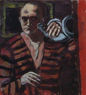 Max Beckmann: Selbstbildnis mit Horn