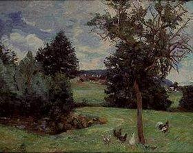 Jean-Baptiste Armand Guillaumin: Landschaft mit Hühnern