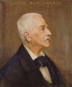 Anonym: Bildnis des Philosophen Jacob Burckhardt