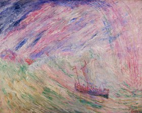 James Ensor: Christus besänftigt den Sturm auf dem Meer