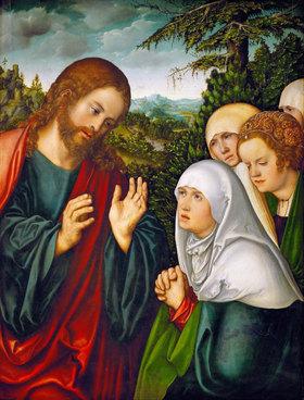 Lucas Cranach d.Ä.: Abschied Christi von den Frauen