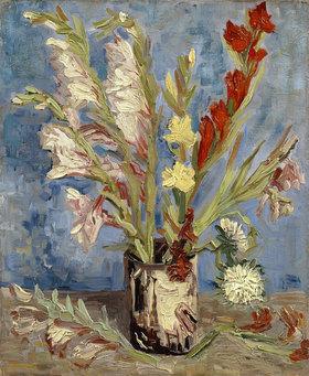 Vincent van Gogh: Vase mit Gladiolen und Astern