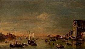 Francesco Guardi: Venedig, Canale delle Giudecca mit der Chiesa dei Gesuati