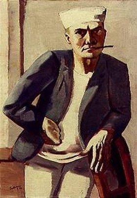 Max Beckmann: Selbstbildnis mit weißer Mütze