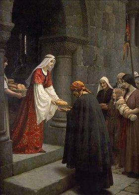 Edmund Blair Leighton: Die hl.Elisabeth von Ungarn speist die Armen