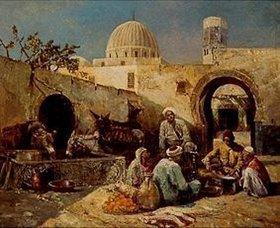 Eugène Pavy: In einem arabischen Hof