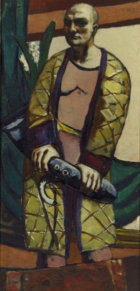 Max Beckmann: Selbstbildnis mit Saxophon