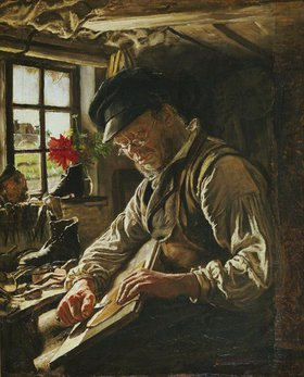 Peter Severin Kroyer: Alter Schuhmacher in Arildsleje