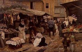 Victor Gabriel Gilbert: Szene auf einem französischen Markt