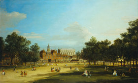 Canaletto (Giov.Antonio Canal): London: Old Horse Guards und Banqueting Hall, Whitehall vom St. James's Park aus