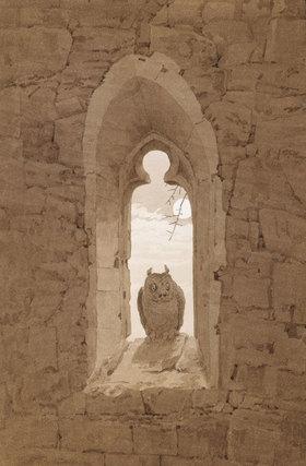 Caspar David Friedrich: Die Eule im gotischen Fenster
