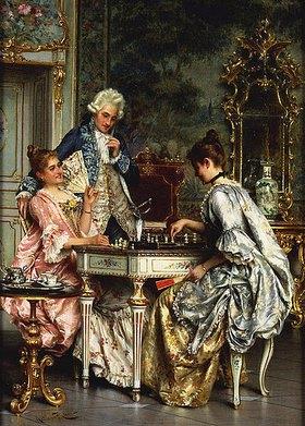 Arturo Ricci: Beim Schachspiel im Rokoko