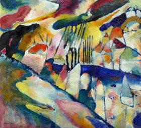 Wassily Kandinsky: Landschaft mit Regen