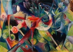 Franz Marc: Reh im Blumengarten