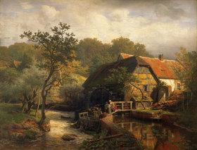 Andreas Achenbach: Westfälische Wassermühle